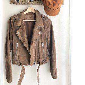 BlankNYC Morning Suede Moto Jacket Size M